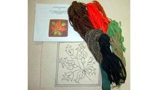 'Seasons - Fall Kit' for beginning rug hooking
